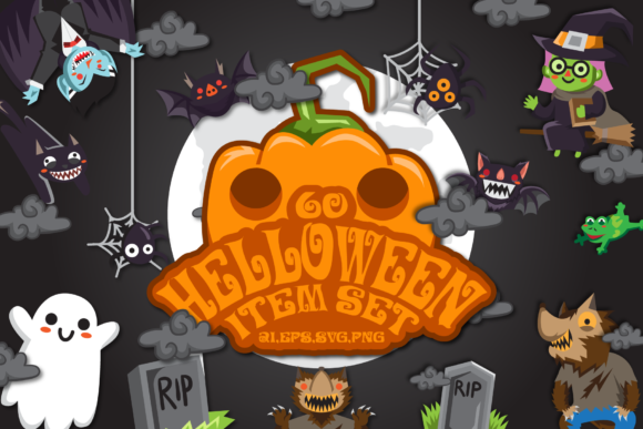 Print on Demand: HALLOWEEN SET 60 ITEM GRAPHIC_VOL 2 Graphic Illustrations By Bayu Baluwarta