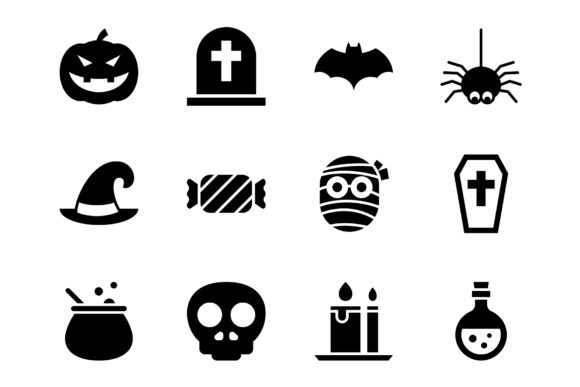 Halloween Icon Set. Graphic Icons By prince4_