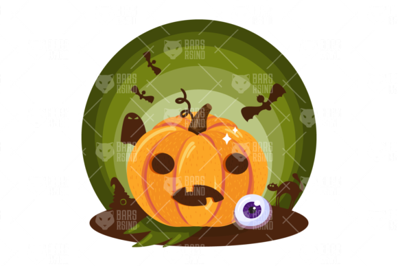 Print on Demand: Halloween Pumpkin Illustration Graphic Illustrations By barsrsind