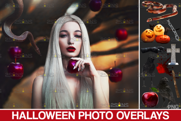 Halloween Clipart Halloween Overlays Graphic Actions & Presets By 2SUNS