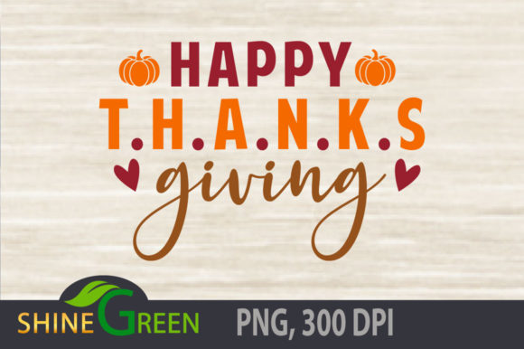 Print on Demand: Happy Thanksgiving Pumpkin SVG Fall Graphic Crafts By ShineGreenArt