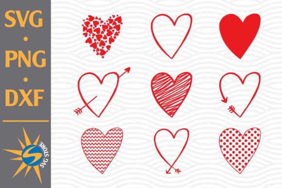 Print on Demand: Heart, Arrow Heart Graphic Crafts By SVGStoreShop
