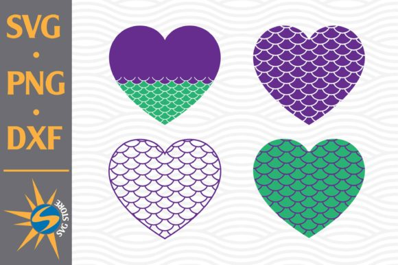 Print on Demand: Heart Mermaid Graphic Crafts By SVGStoreShop