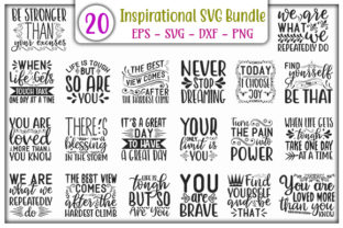 Print on Demand: Inspirational  Quotes Design Bundle Gráfico Plantillas para Impresión Por GraphicsBooth