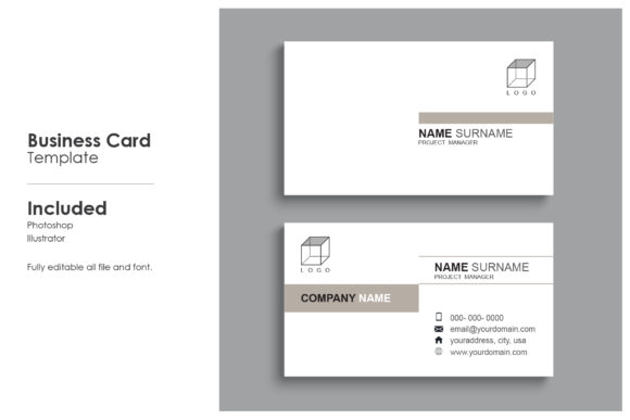 Minimal Business Card Template 10 Graphic Print Templates By prince4_