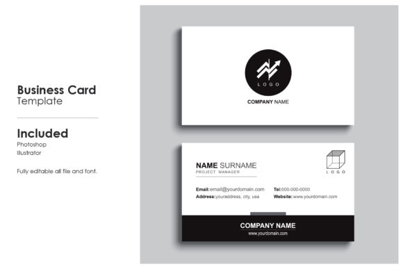 Minimal Business Card Template 9 Graphic Print Templates By prince4_