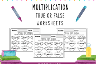 Multiplication: True or False Worksheets Graphic 1st grade By Happy Kiddos
