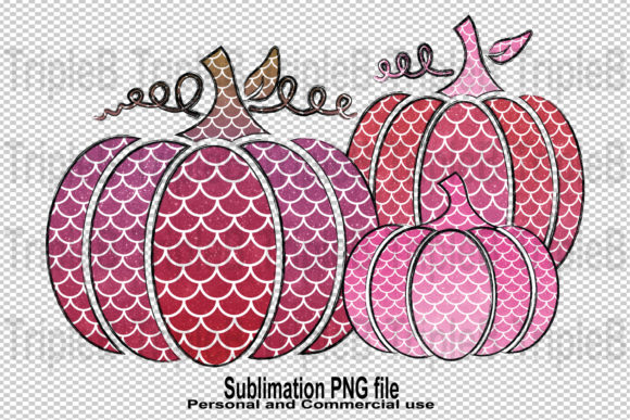 Print on Demand: Pink Pumpkins Glitter Sublimation Graphic Crafts By TripleBcraft