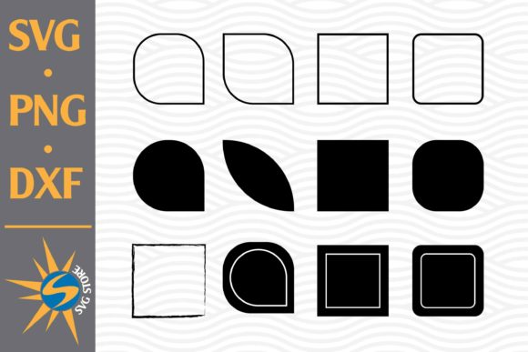 Print on Demand: Square Silhouette Graphic Crafts By SVGStoreShop