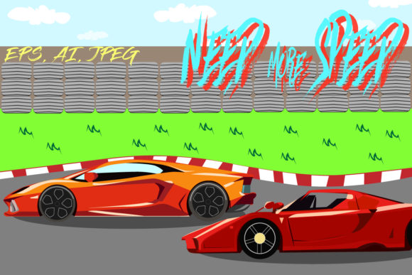 Supercar Graphic Illustrations By suryamas175