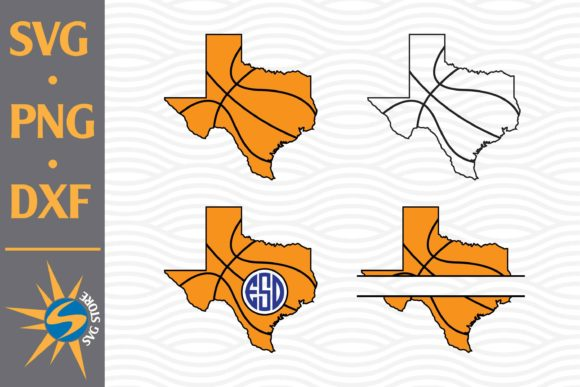 Print on Demand: Texas Basketball Monogram Graphic Crafts By SVGStoreShop
