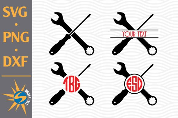 Print on Demand: Tool Crossed Monogram Graphic Crafts By SVGStoreShop