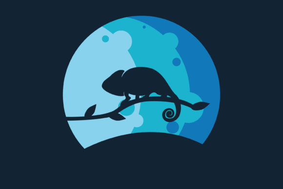 Print on Demand: Vector SIlhouette Chameleon Graphic Illustrations By MAMD