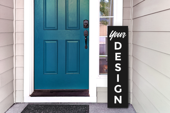 Vertical Porch Sign Mockup Graphic Product Mockups By RisaRocksIt