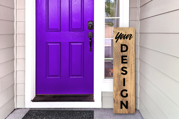 Vertical Wooden Porch Sign Mockup Graphic Product Mockups By RisaRocksIt