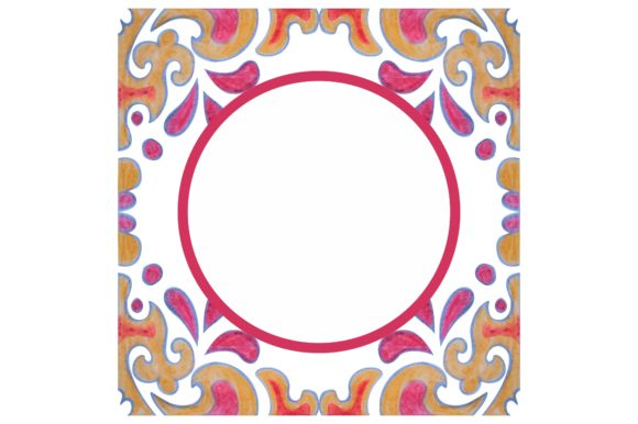 Print on Demand: Watercolor Ornament Frame Border Gráfico Crafts Por Arief Sapta Adjie