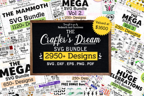 The Huge Crafter's Dream Bundle Graphic