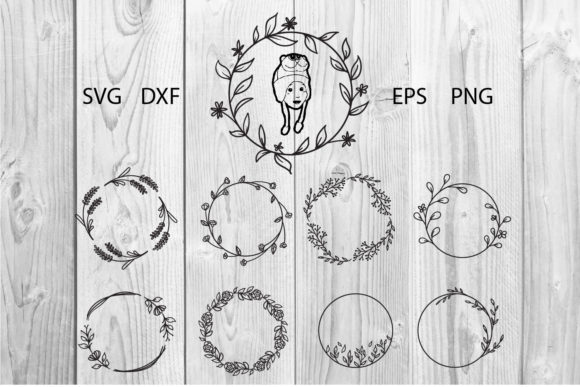 Print on Demand: Hand Drawn Floral Clip Art Frame Graphic Print Templates By dadan_pm