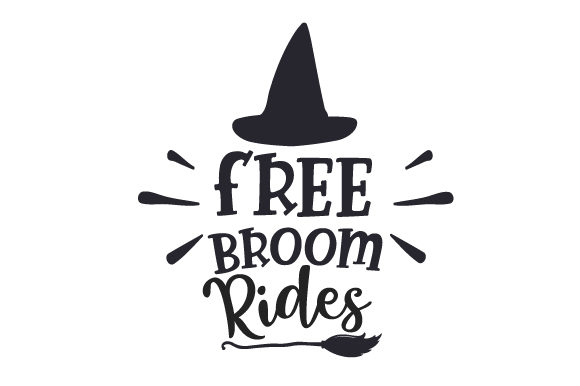 Free Broom Rides Halloween Craft Cut File By Creative Fabrica Crafts