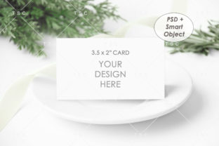 3.5″ X 2″ Card Mockup Graphic Product Mockups By thesundaychic