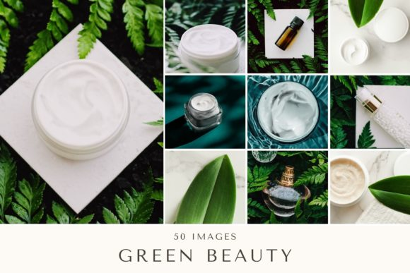 Print on Demand: 50 Images | Green Beauty Bundle Graphic Beauty & Fashion By anneleven