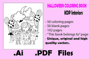 Print on Demand: 50pages Halloween Coloring Book for Kids Graphic Coloring Pages & Books Kids By KDP_Interior_101