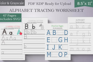 Print on Demand: Alphabet Tracing Worksheets for Kids PDF Graphic KDP Interiors By Digital Town