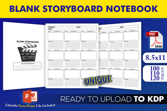 Print on Demand: Blank Storyboard Notebook - KDP Interior Graphic KDP Interiors By Beast Designer