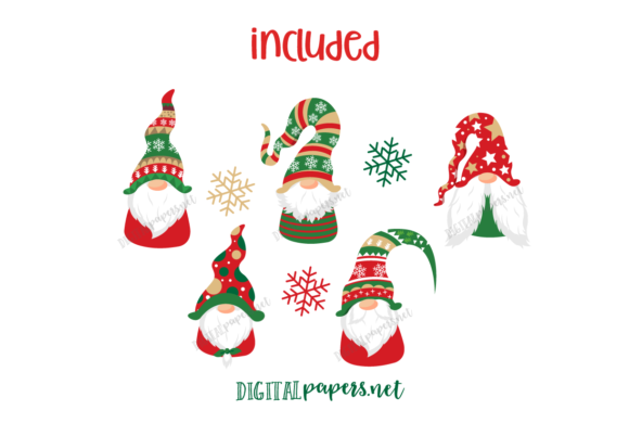 Christmas Nordic Gnomes Graphic Download