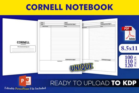 Print on Demand: Cornell Notebook - KDP Interior Template Graphic KDP Interiors By Beast Designer