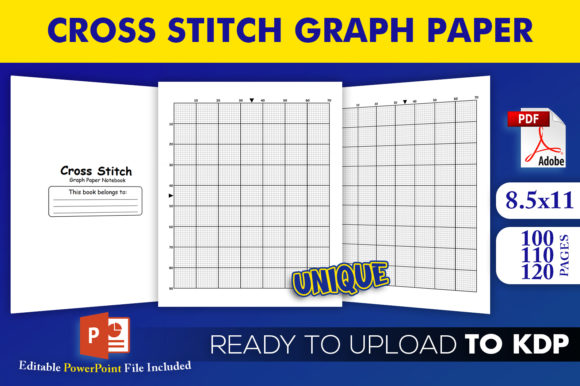 Print on Demand: Cross Stitch Graph Paper KDP Interior Graphic KDP Interiors By Beast Designer