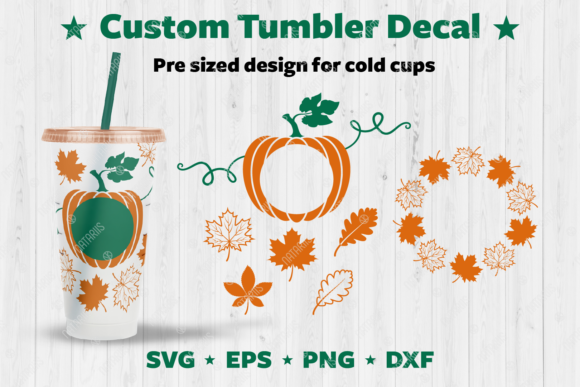 Fall Custom Tumbler Decal. Graphic Crafts By Natariis Studio