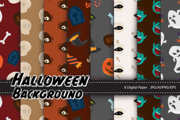 Print on Demand: Halloween Background. Digital Paper. Graphic Patterns By IsaraDesign