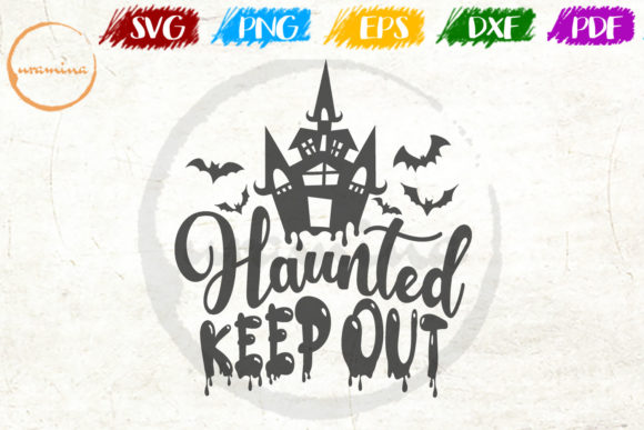 Print on Demand: Haunted Keep out Graphic Crafts By Uramina