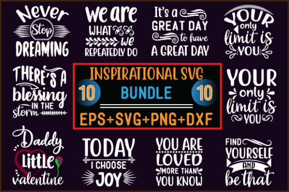 INSPIRATIONAL BUNDLE Graphic Print Templates By creative store.net