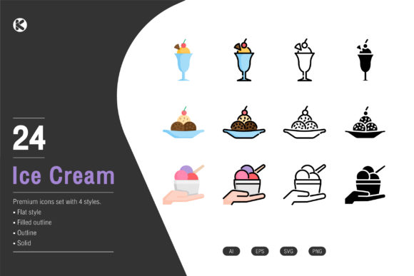 Ice Cream Icons Collection. Graphic Icons By Koson.graphic