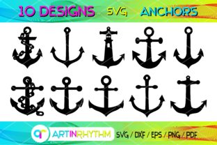 Nautical Anchor SVG Clip Arts Bundle Graphic Crafts By artinrhythm