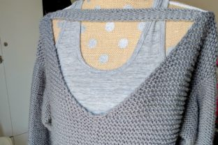 No Purls Sweater - V Back Pullover Graphic Knitting Patterns By thesnugglery