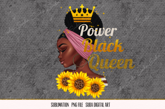 Print on Demand: Power Black Queen Sublimation Graphic Illustrations By Suda Digital Art