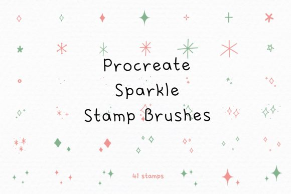 Procreate Stamps Sparkles Stamp Brushes Graphic Brushes By Jyllyco