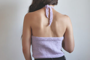 Simple Knit Halter Top Pattern Graphic Knitting Patterns By thesnugglery