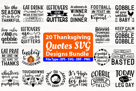 Thanksgiving Quotes Svg Design Bundle Graphic By Design Store Creative Fabrica
