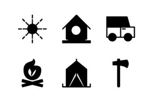 Camping Glyph Icon Graphic Icons By astuti.julia93@gmail.com