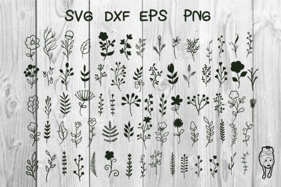 Print on Demand: Element Floral Hand Drawn Graphic Print Templates By dadan_pm