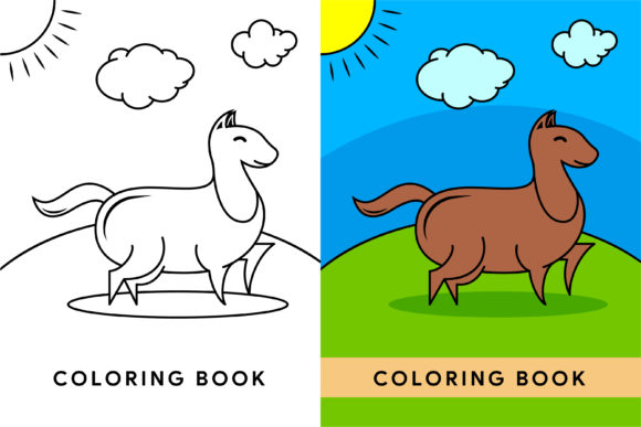 Print on Demand: Horse Coloring Book Graphic Coloring Pages & Books By noory.shopper