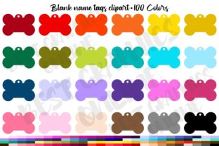 100 Dog Tag Clipart, Pet Tag Graphic Illustrations By bestgraphicsonline