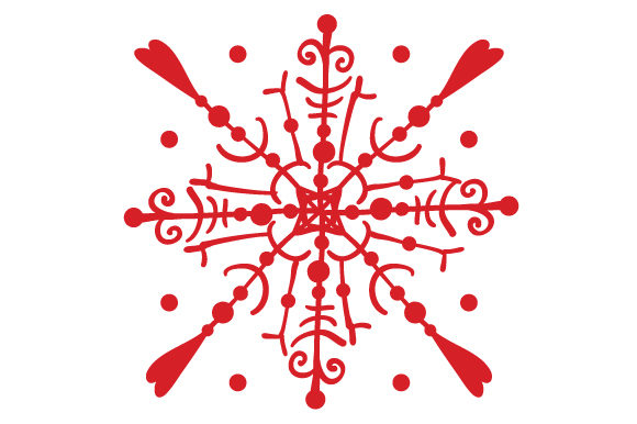 Snowflake Winter Plotterdatei von Creative Fabrica Crafts
