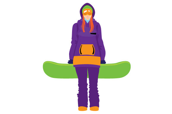 Snowboarder Girl Winter Craft Cut File By Creative Fabrica Crafts
