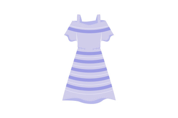 Striped Dress from Behind Beauty & Fashion Craft Cut File By Creative Fabrica Crafts