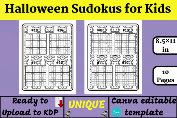 20 Halloween Sudoku for Kids (KDP) Graphic KDP Interiors By Wiss_Tips designs